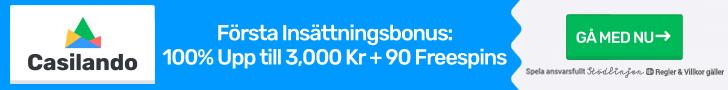 Casilando free spins no deposit - få 90 bonusspins vid din första insättning!
