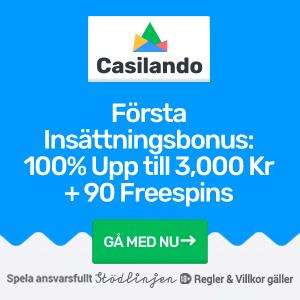 Casilando free spins - 3000 kr och 90 bonusspins som första insättningsbonus!