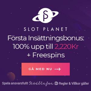 Slot Planet free spins - 22 freespins i första insättningsbonus!