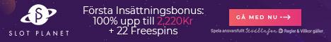 SlotPlanet no deposit casino bonus och free spins