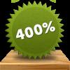 Comeon bonus - få 400% insättningsbonus - sätt in 100 kr och spela med 500 kr!