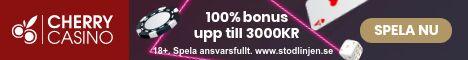CherryCasino free spins: inga freespins eller bonusspins utan endast 200% insättningsbonus upp till 1500 kr!