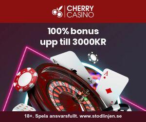 Cherrycasino kampanjkod: 100% bonus upp till 1500 kr utan någon bonuskod!