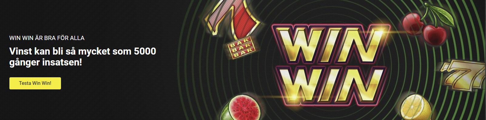 Unibet vinstboost - chans att vinna upp till 5000 gånger insatsen Win Win