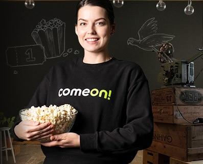 ComeOn biobiljett: så kan du få en ComeOn biobiljett när du registrerar dig!