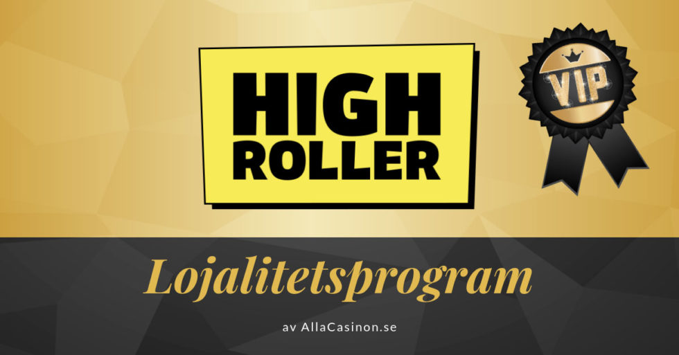Highroller Casinos lojalitetsprogram av Alla Casinon