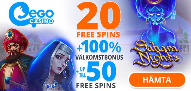 EgoCasino free spins no deposit required
