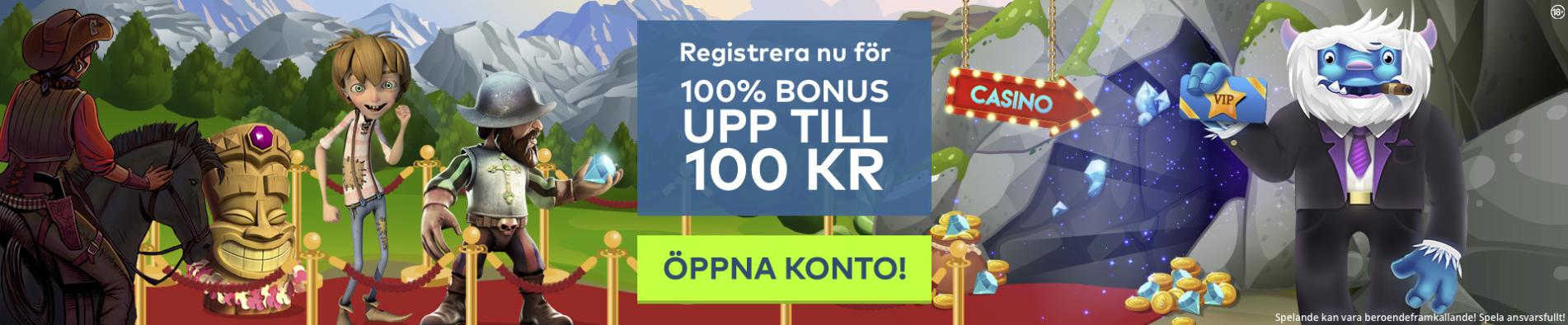 yeti casino no deposit bonus codes: 100% insättningsbonus upp till 100 kr!